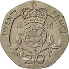 United Kingdom / Twenty Pence 1991 - reverse photo