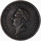 Penny 1827: Photo Coin - Penny, George IV, Great Britain, 1827