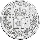 United Kingdom / Sixpence (Decimal) - reverse photo