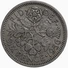 United Kingdom / Sixpence 1956 - reverse photo