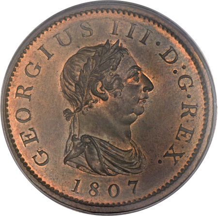 Penny 1807: Photo Great Britain 1807 penny