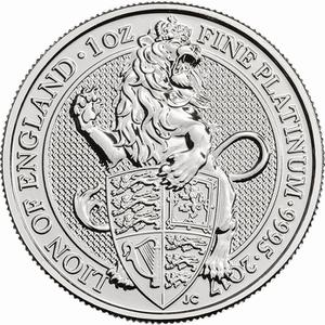 United Kingdom / Platinum Ounce 2017 Lion of England - reverse photo