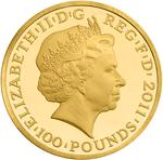 United Kingdom / Gold Ounce 2011 Jupiter - obverse photo
