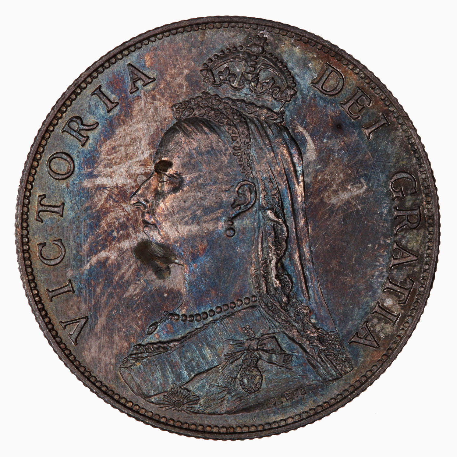 Florin 1887 Jubilee: Photo Coin - Florin, Queen Victoria, Great Britain, 1887