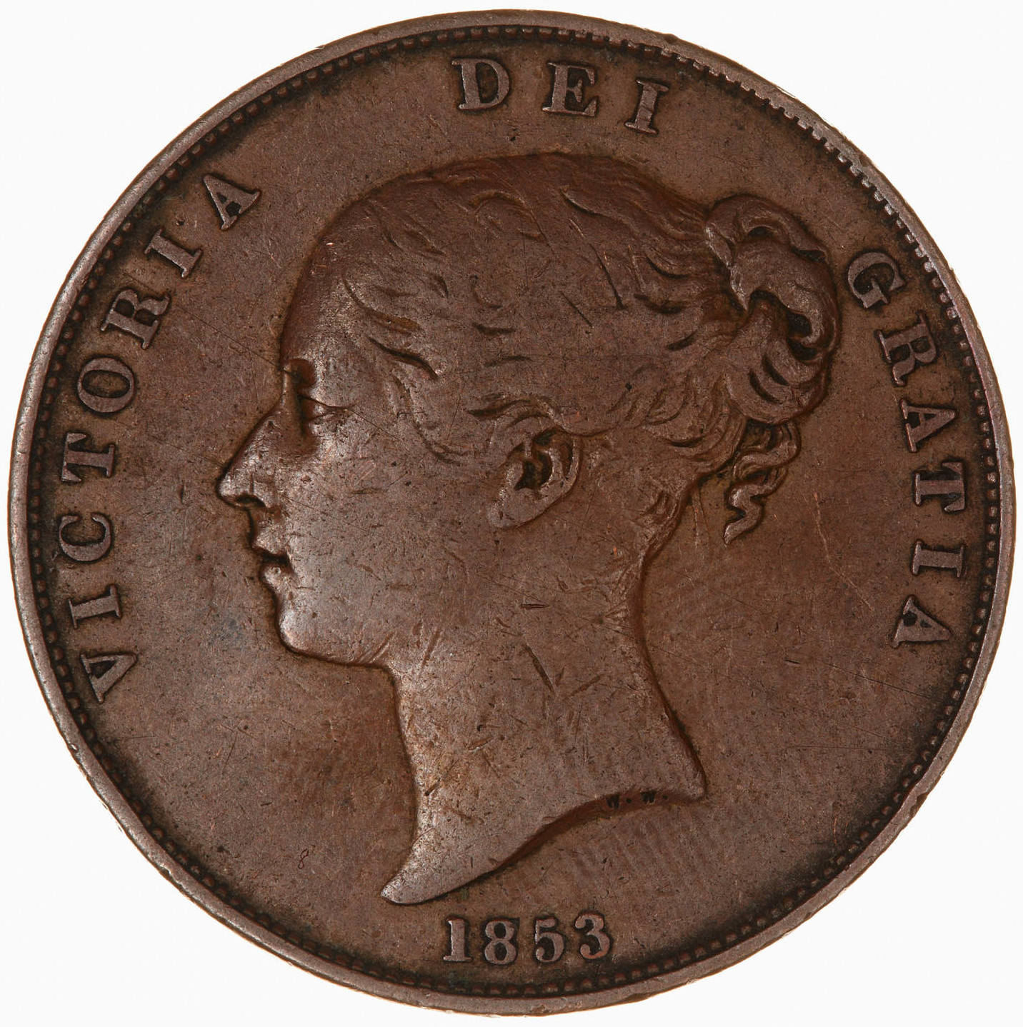 Penny 1853: Photo Coin - Penny, Queen Victoria, Great Britain, 1853