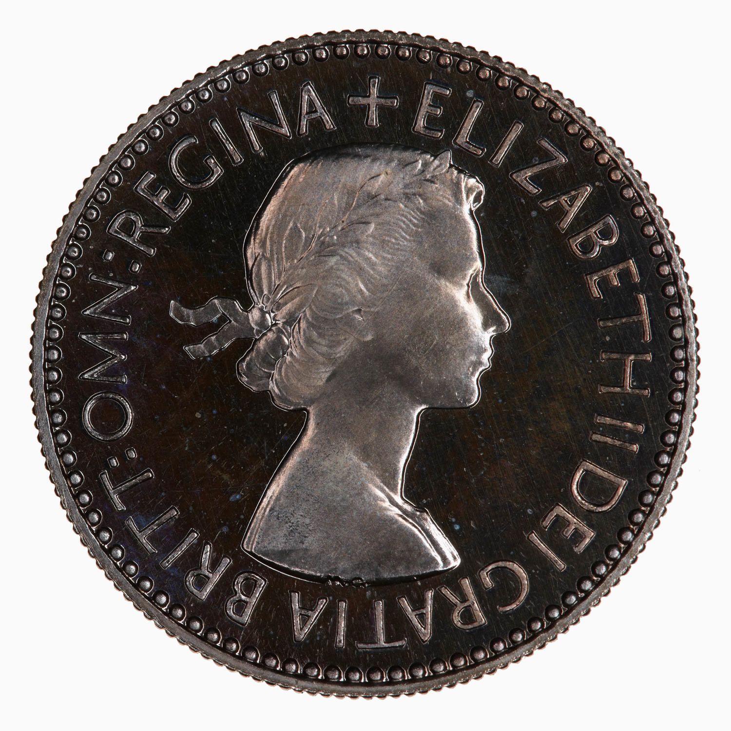Sixpence: Photo Proof Coin - Sixpence, Elizabeth II, Great Britain, 1953
