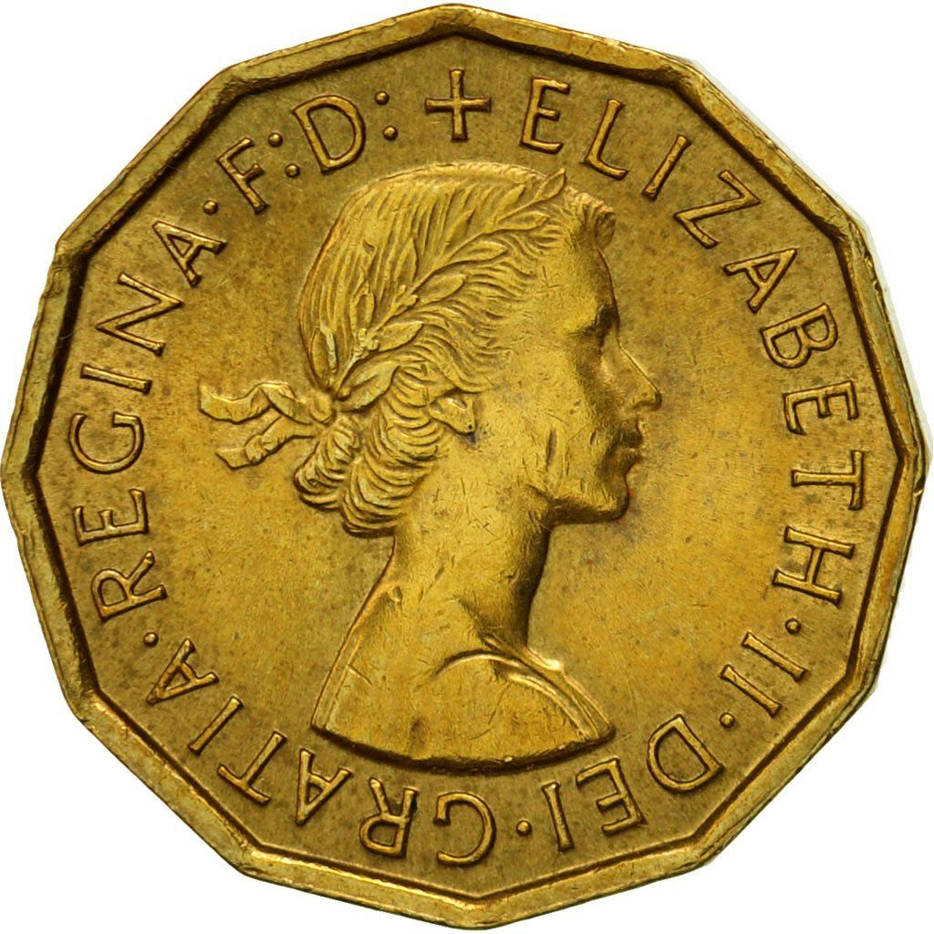 Threepence 1964 (Brass): Photo Coin, Great Britain, Elizabeth II, 3 Pence, 1964