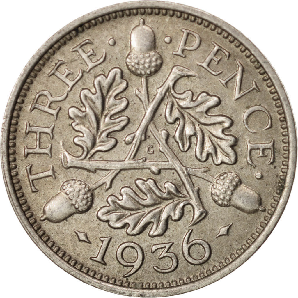 Threepence 1936 (Circulating): Photo Great Britain, George V, 3 Pence, 1936