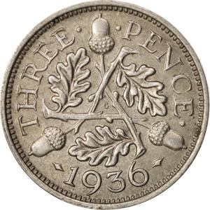 United Kingdom / Threepence 1936 (Circulating) - reverse photo