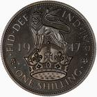 Shilling 1947 English: Photo Proof Coin - Shilling, George VI, Great Britain, 1947