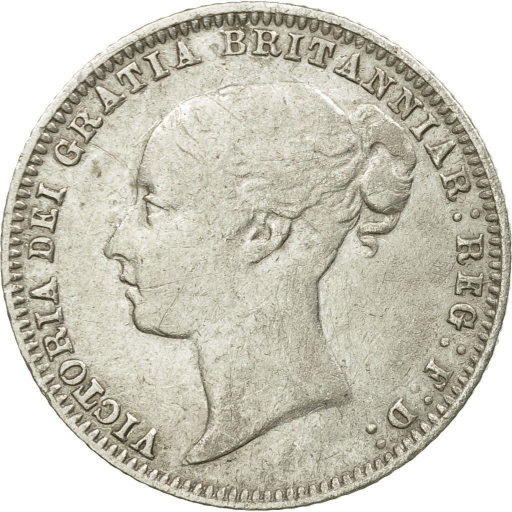 Sixpence 1875: Photo Coin, Great Britain, Victoria, 6 Pence, 1875