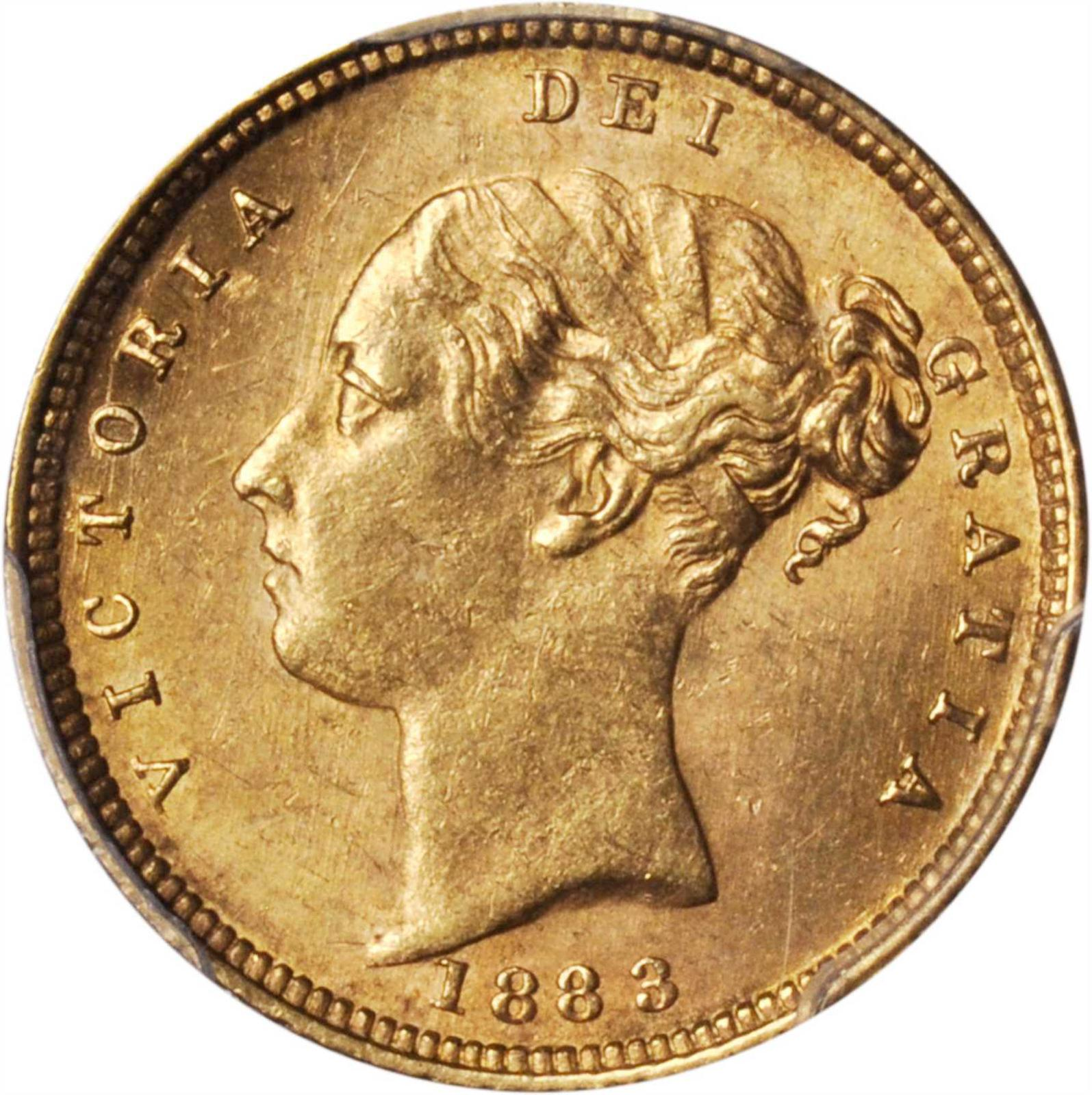 Half Sovereign (Pre-decimal): Photo Great Britain 1883 1/2 sovereign