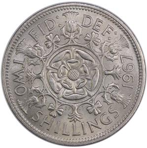 United Kingdom / Two Shillings (Florin) 1967 - reverse photo