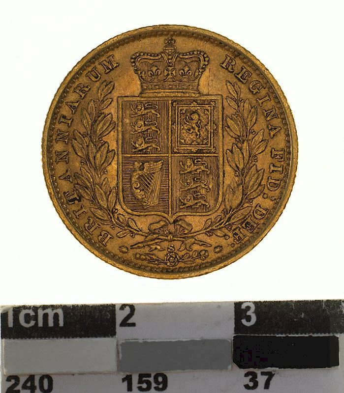 Sovereign 1883 Shield: Photo Coin - Sovereign, New South Wales, Australia, 1883
