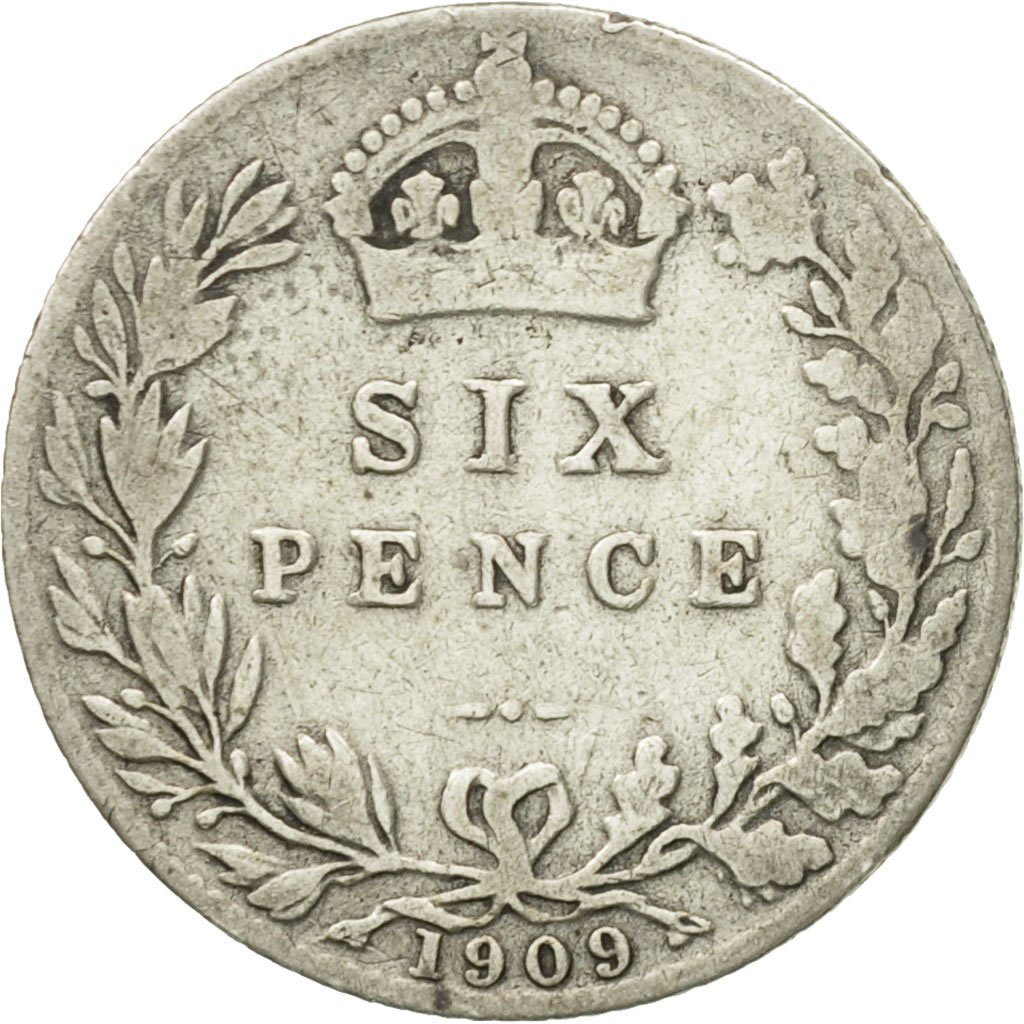 Sixpence 1909: Photo Coin, Great Britain, 6 Pence, 1909