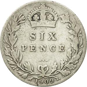 United Kingdom / Sixpence 1909 - reverse photo