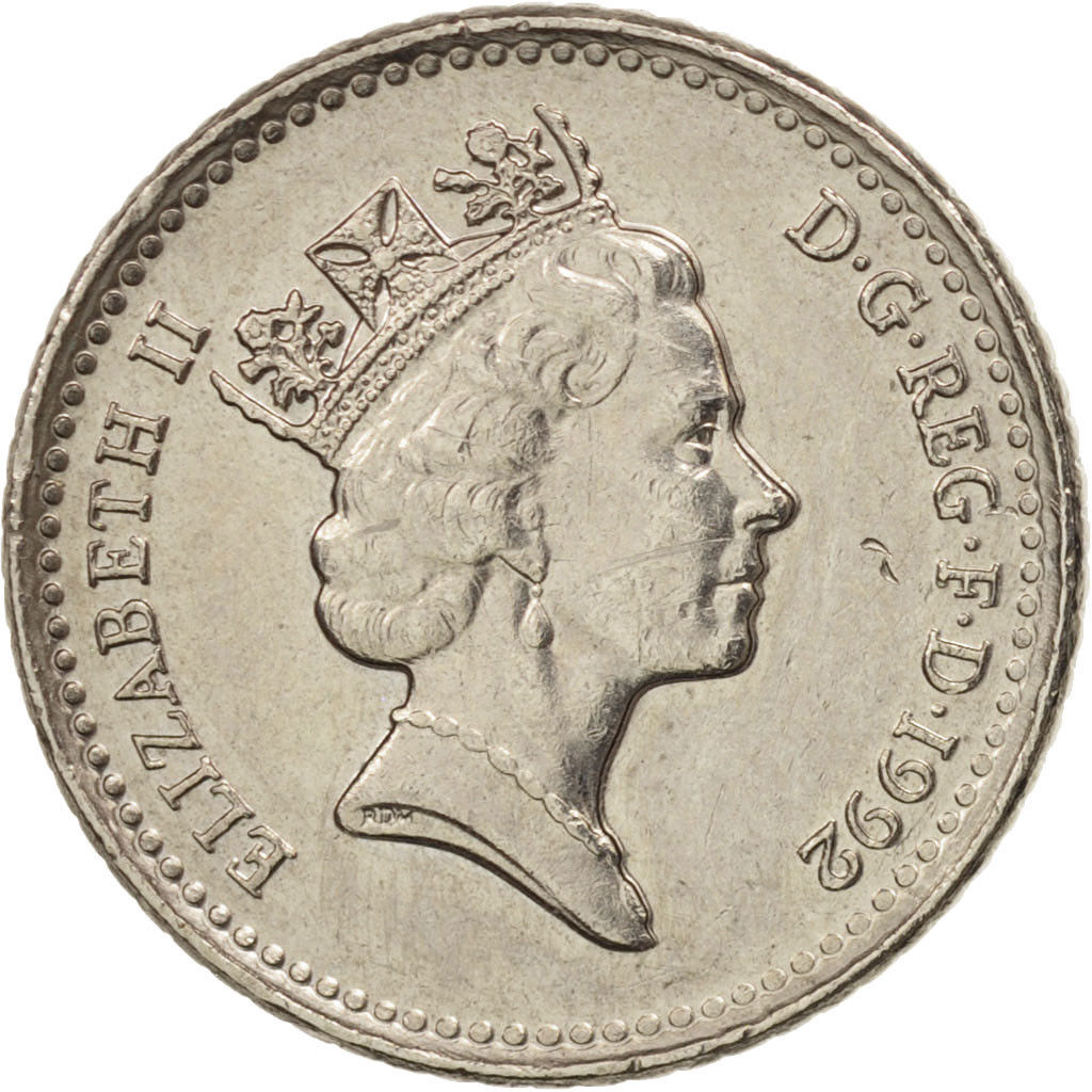 Five Pence: Photo Coin, Great Britain, 5 Pence, 1992
