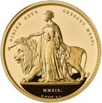 United Kingdom / Gold Two Kilos 2019 Una and the Lion - reverse photo