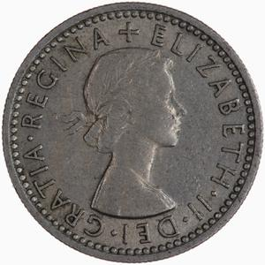 United Kingdom / Sixpence 1956 - obverse photo