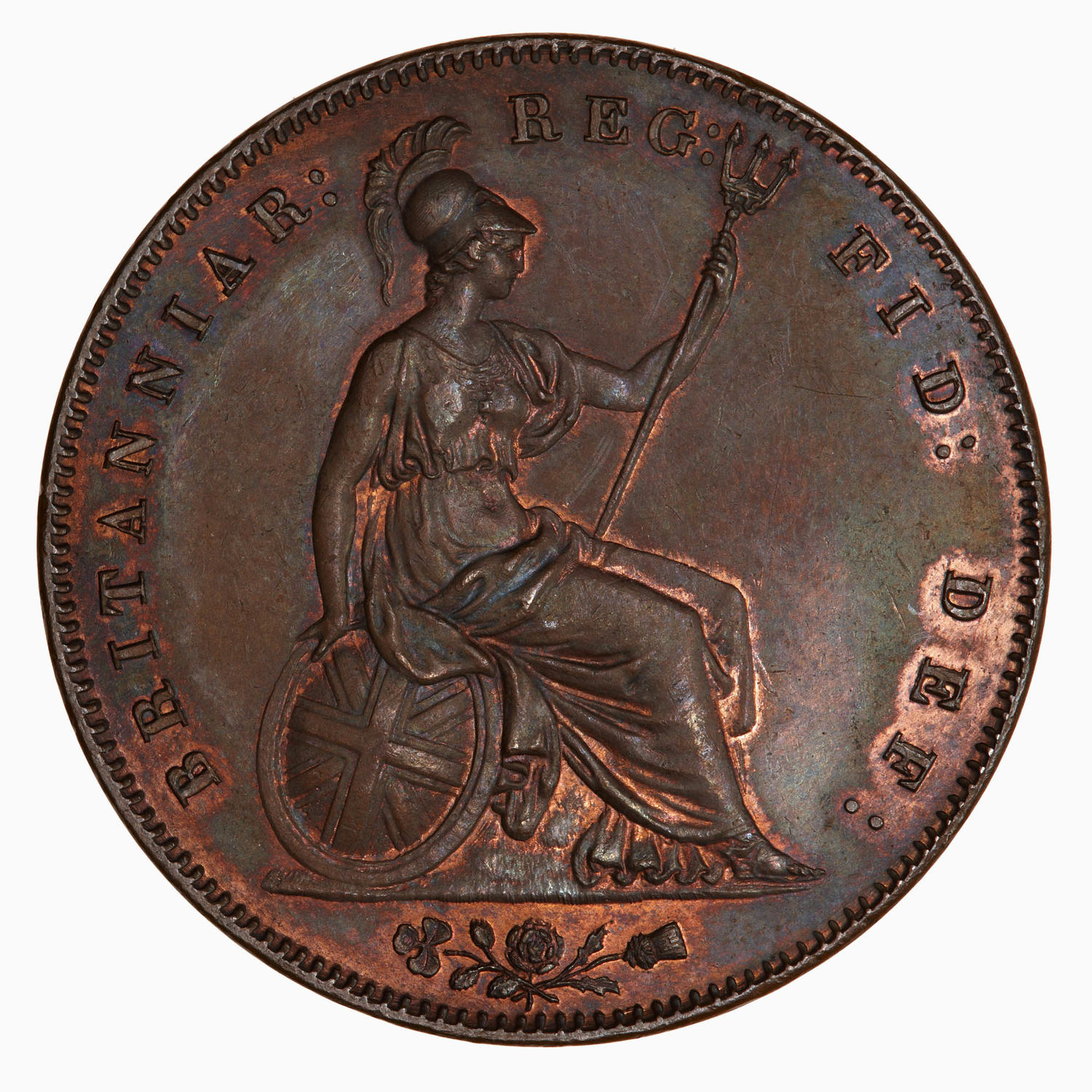 Penny 1860 (Large): Photo Coin - Penny, Queen Victoria, Great Britain, 1860