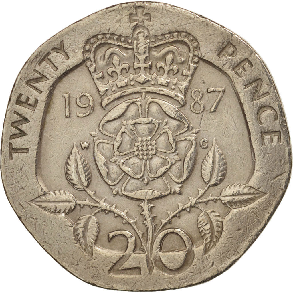 Twenty Pence 1987: Photo Great Britain, Elizabeth II, 20 Pence, 1987