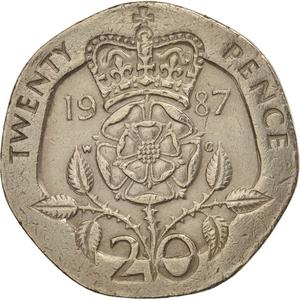 United Kingdom / Twenty Pence 1987 - reverse photo