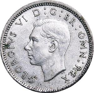 United Kingdom / Sixpence 1943 - obverse photo