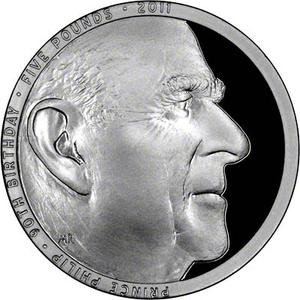 United Kingdom / Five Pounds 2011 Prince Philip - reverse photo