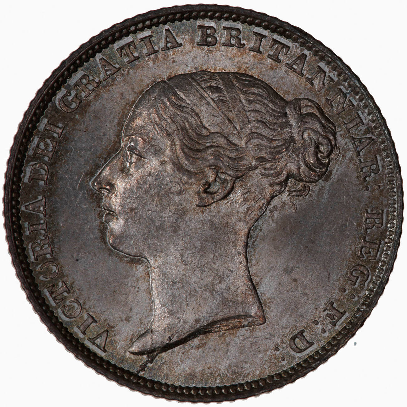 Sixpence 1851: Photo Coin - Sixpence, Queen Victoria, Great Britain, 1851