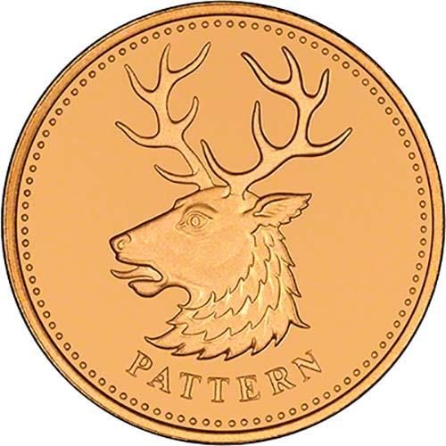 One Pound 2004 White Hart (Pattern): Photo 2004 UK £1 Pattern Set Gold Proof Beasts - White Hart