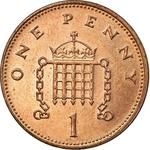 United Kingdom / One Penny 1992 - reverse photo