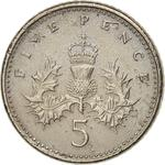 United Kingdom / Five Pence 1991 - reverse photo