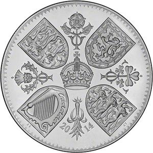 United Kingdom / Five Pounds 2014 Prince George Birthday - reverse photo