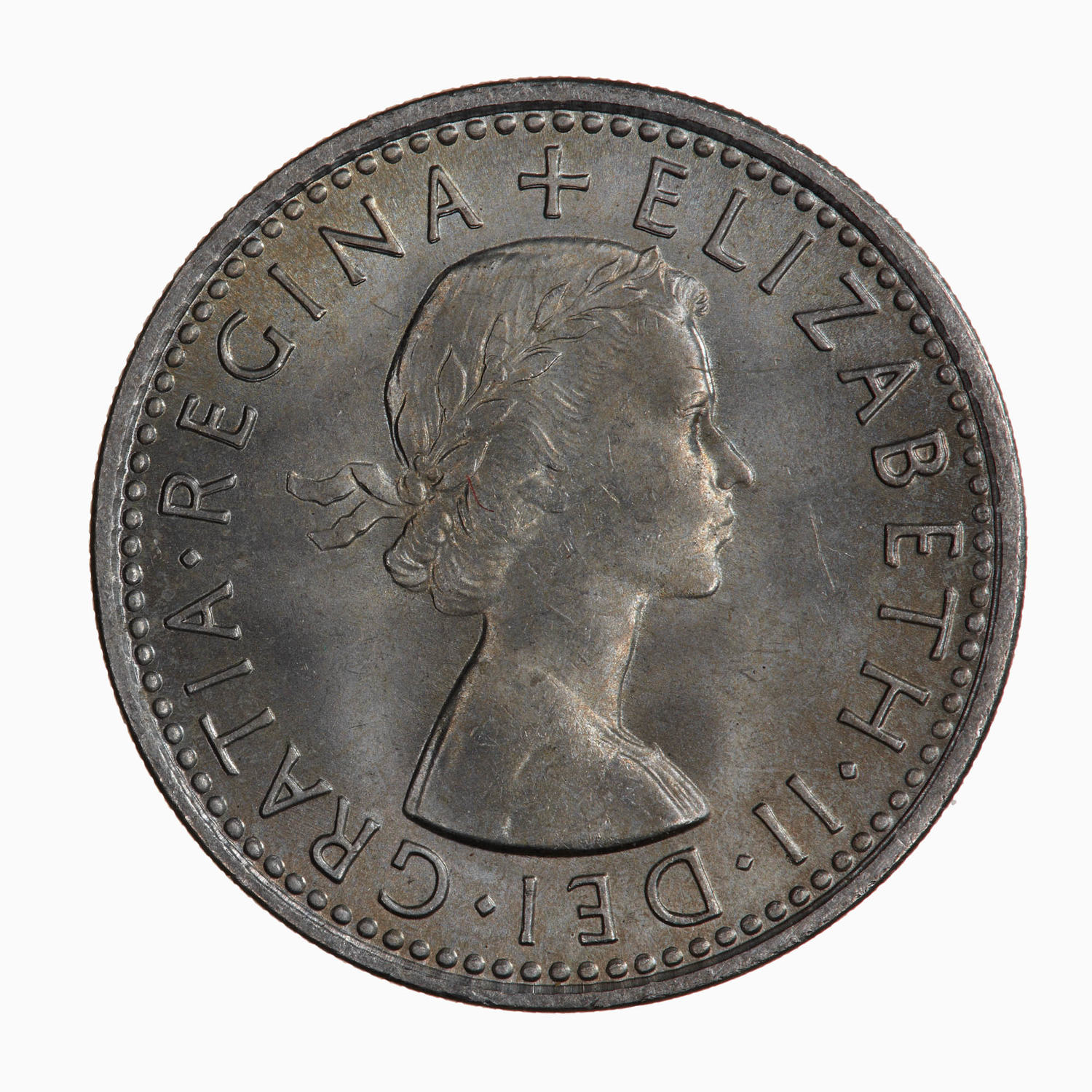 Sixpence: Photo Coin - Sixpence, Elizabeth II, Great Britain, 1966