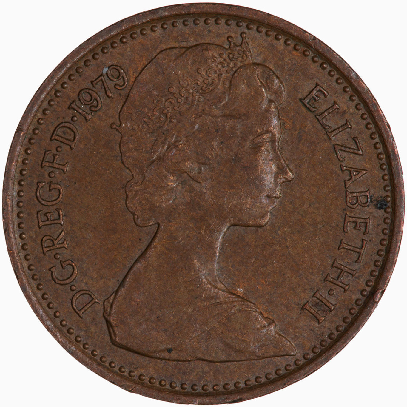 Half Penny 1979: Photo Coin - 1/2 New Penny, Elizabeth II, Great Britain, 1979