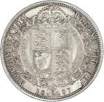 Halfcrown 1887 Jubilee Head: Photo Silver 1/2 crown, Great Britain