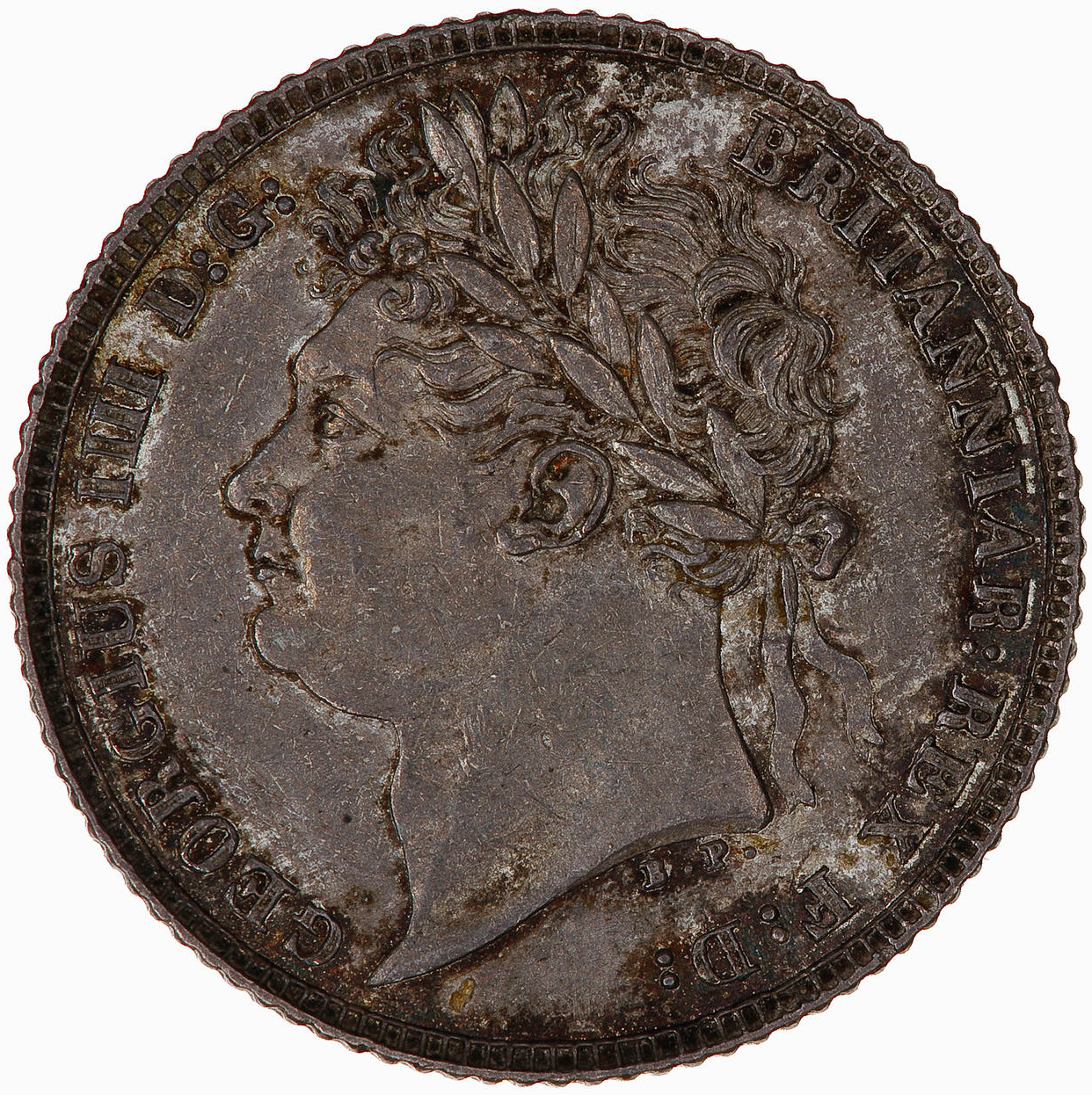 Sixpence 1821: Photo Coin - Sixpence, George IV, Great Britain, 1821