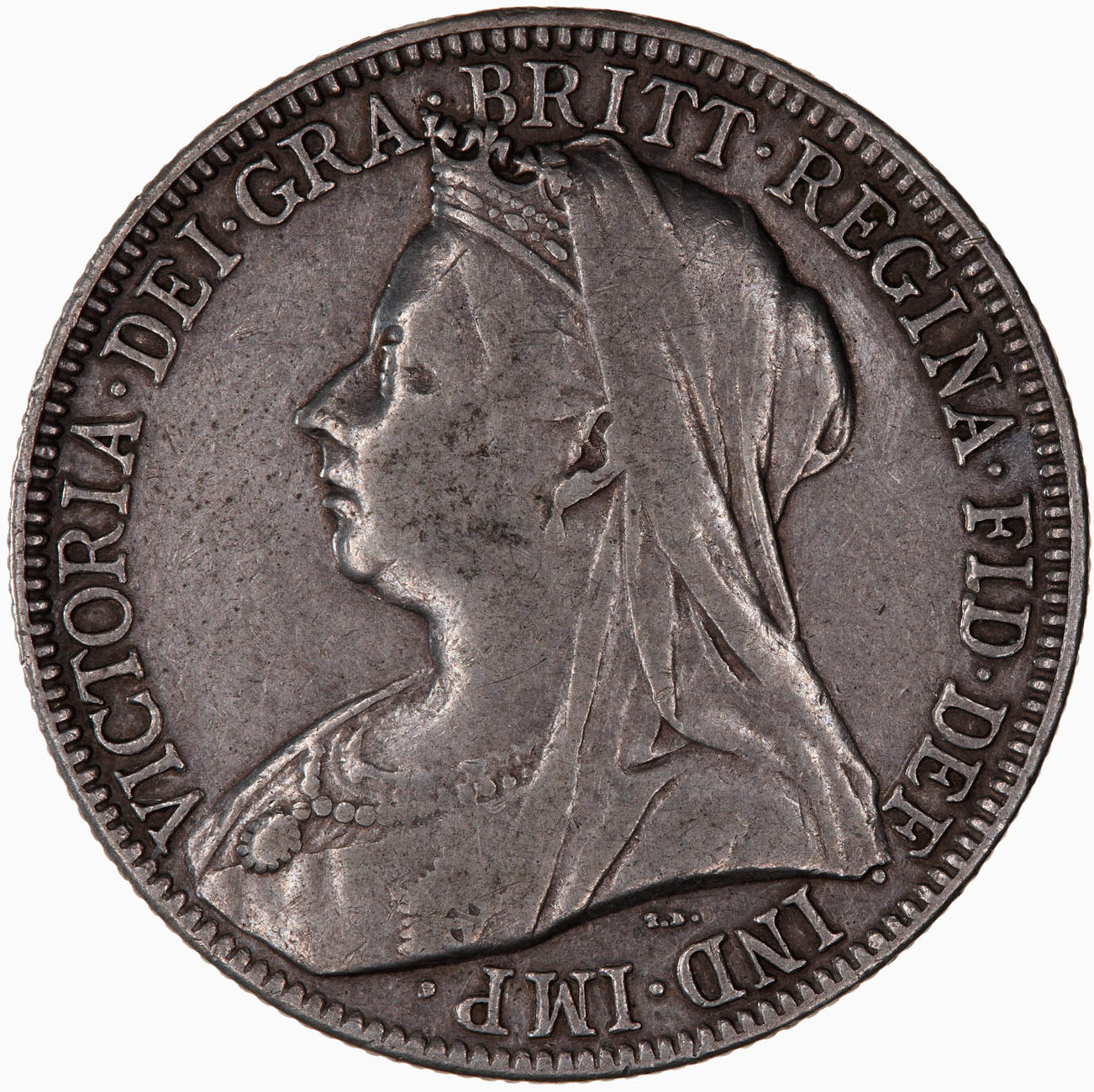 Florin 1901: Photo Coin - Florin, Queen Victoria, Great Britain, 1901