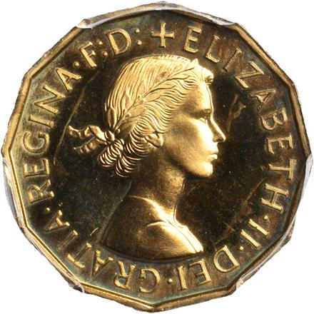 Threepence 1958 (Brass): Photo Great Britain 1958 3 pence
