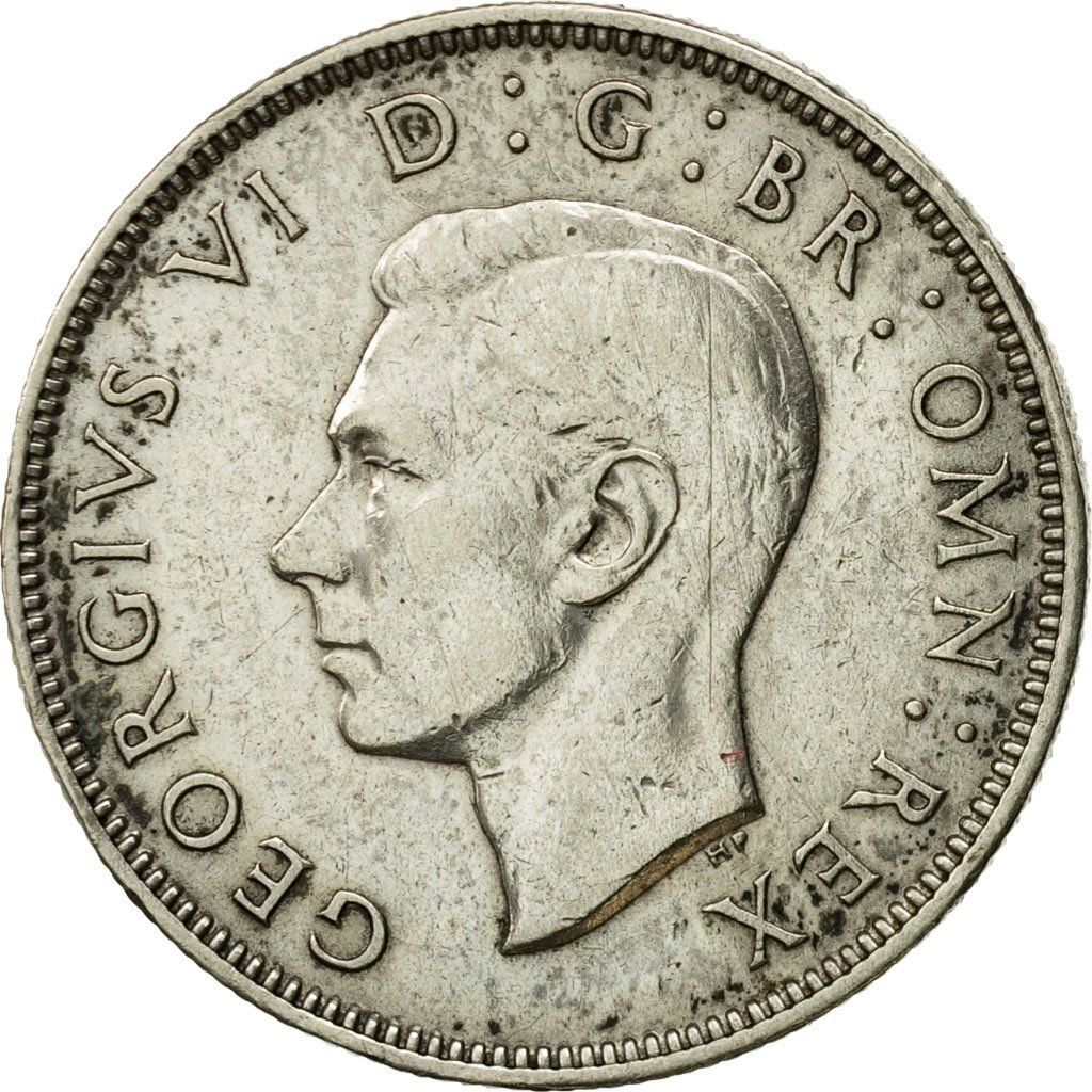 Two Shillings (Florin) 1943: Photo Coin, Great Britain, George VI, Florin, Two Shillings, 1943