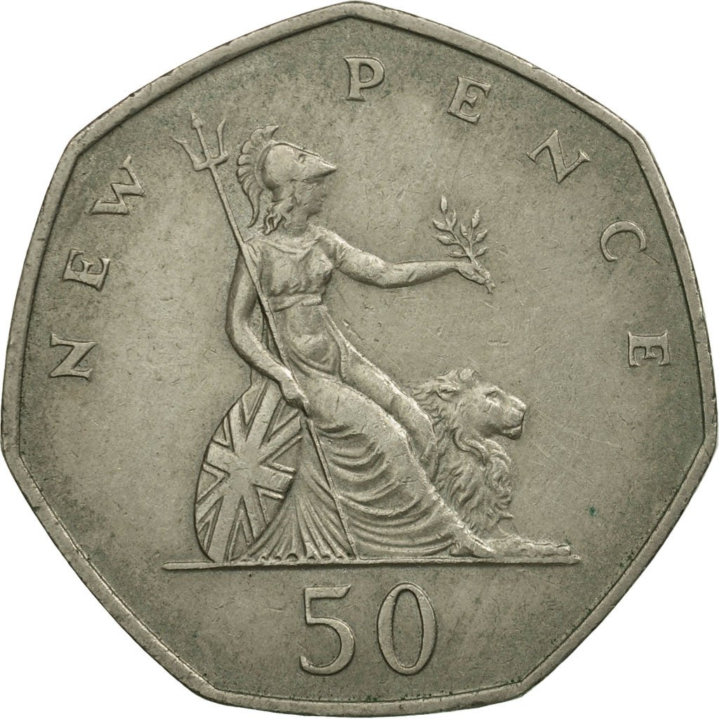Fifty Pence 1970: Photo Coin, Great Britain, 50 New Pence, 1970