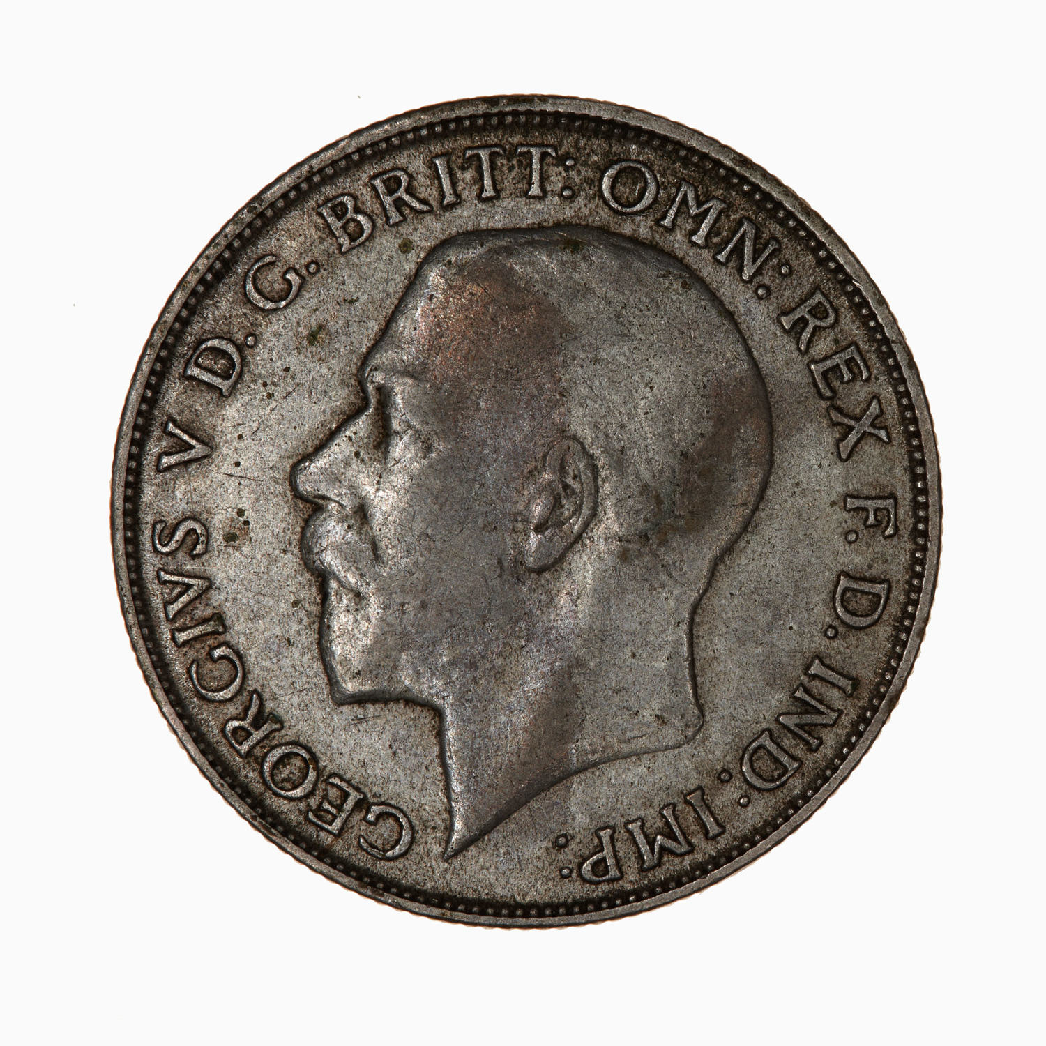Florin 1922: Photo Coin - Florin (2 Shillings), George V, Great Britain, 1922