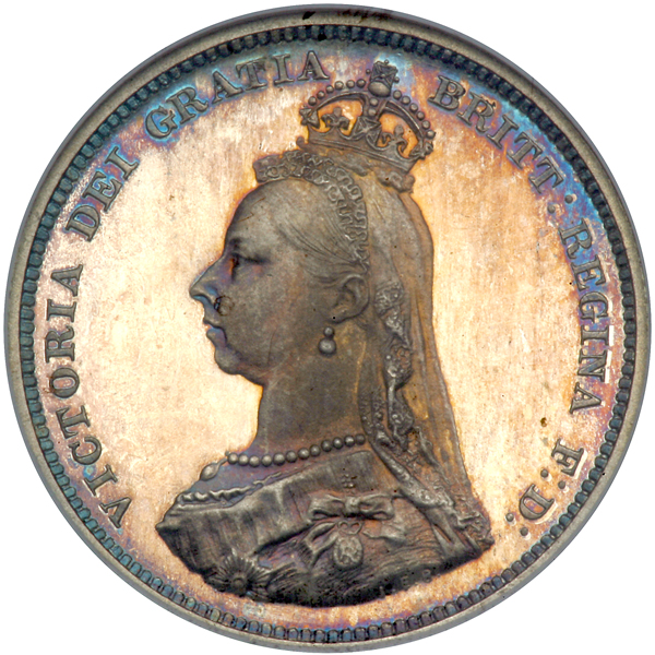 Shilling Shield: Photo Coin - Shilling, Queen Victoria, Great Britain, 1888