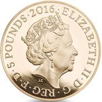 United Kingdom / Five Pounds 2016 Queen's 90th Birthday - obverse photo