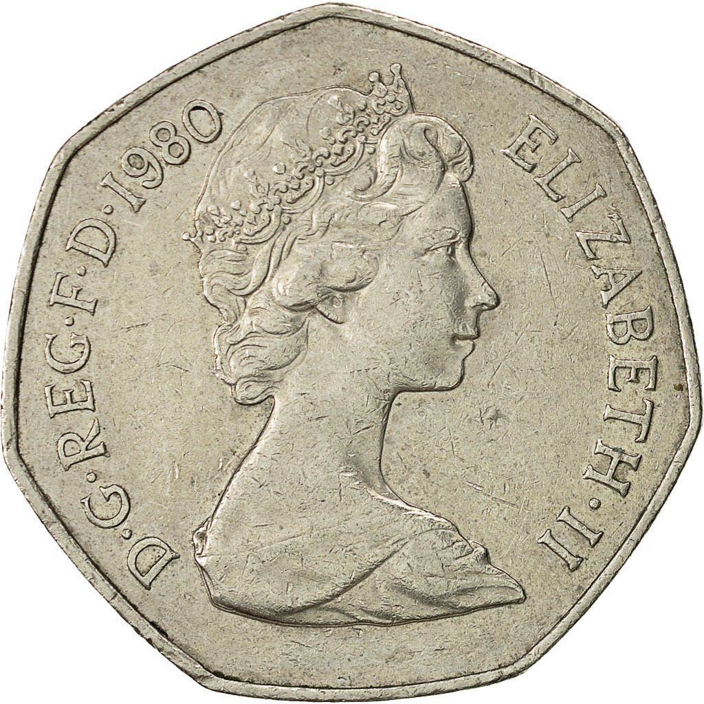 Fifty Pence 1980: Photo Great Britain, Elizabeth II, 50 New Pence, 1980