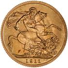 Sovereign 1911: Photo Specimen Coin - Sovereign, Canada, 1911
