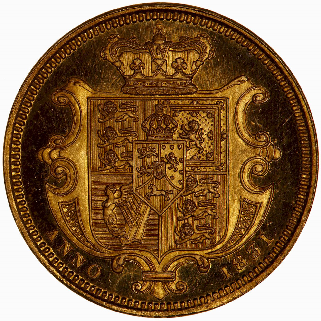 Half Sovereign (Pre-decimal): Photo Proof Coin - Half-Sovereign, William IV, Great Britain, 1831