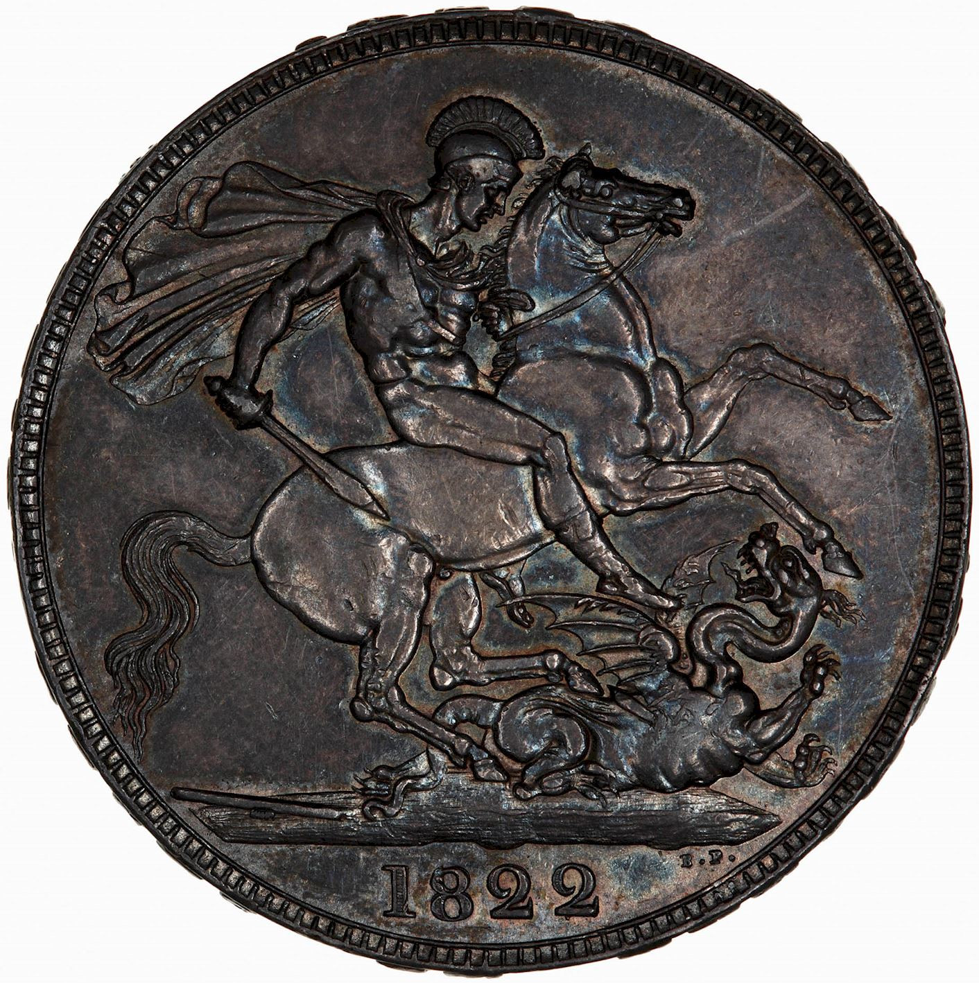 Crown (St George): Photo Coin - Crown, George IV, Great Britain, 1822
