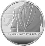 United Kingdom / Silver Half Ounce 2020 James Bond, Shaken not Stirred - reverse photo