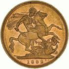 United Kingdom / Sovereign 1892 - obverse photo